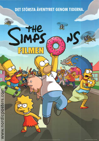 The Simpsons Movie 2007 poster Matt Groening