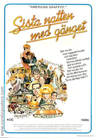 American Graffiti 1972 George Lucas Richard Dreyfuss Ron Howard Harrison Ford Wolfman Jack