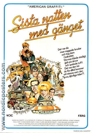 American Graffiti 1972 Movie poster Richard Dreyfuss George Lucas