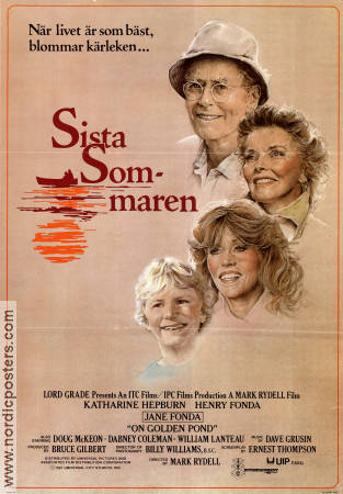 On Golden Pond 1981 Movie poster Katharine Hepburn Mark Rydell