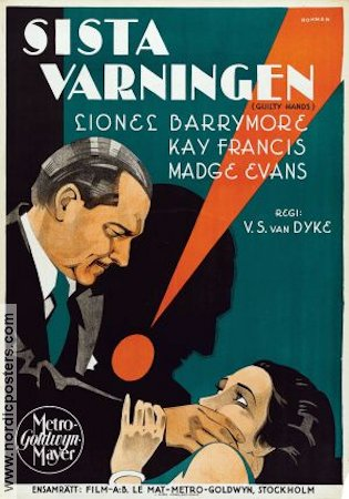 Guilty Hands 1931 Lionel Barrymore Kay Francis