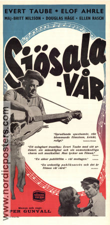 Sj�salav�r 1949 Movie poster Evert Taube