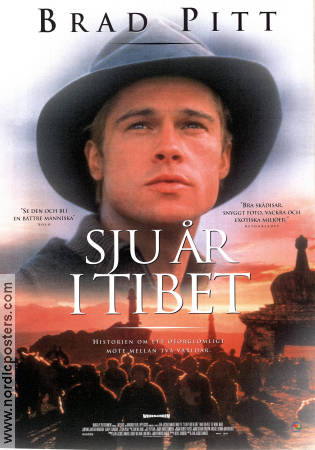 Seven Years in Tibet 1997 poster Brad Pitt Jean-Jacques Annaud