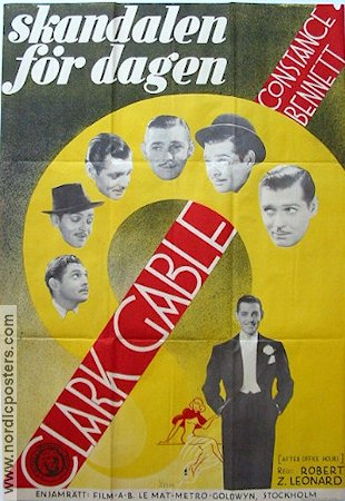 After Office Hours 1935 poster Clark Gable