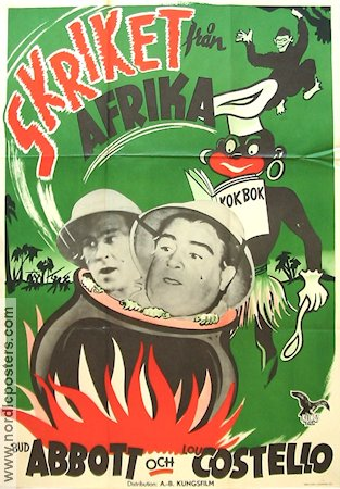 Africa Screams 1949 poster Abbott and Costello
