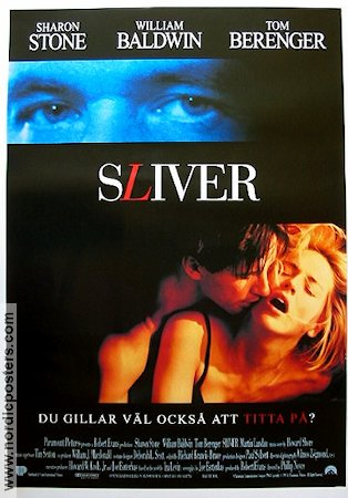 Sliver 1993 Movie poster Sharon Stone