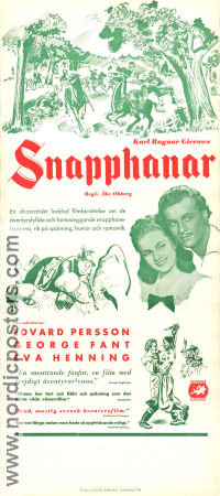 Snapphanar 1944 Movie poster Edvard Persson