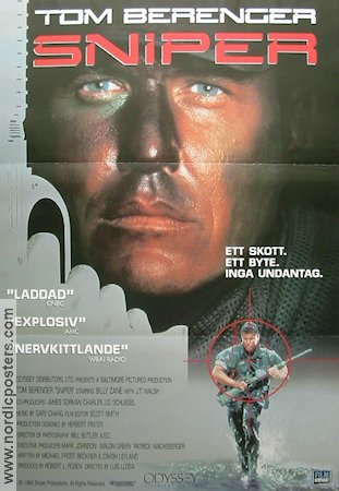 Sniper 1992 Movie poster Tom Berenger