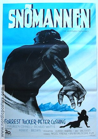 The Abominable Snowman 1958 poster Forrest Tucker