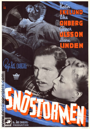 Sn�stormen 1944 Movie poster Karin Ekelund