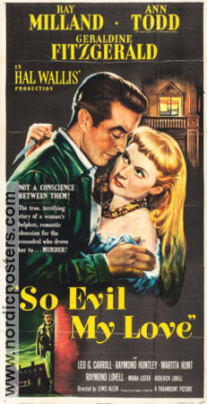 So Evil My Love 1948 poster Ray Milland Lewis Allen