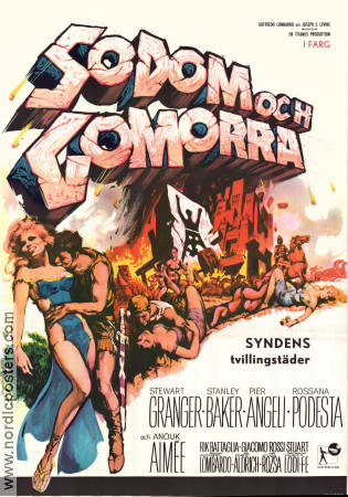 Last Days of Sodom and Gomorrah 1963 poster Stewart Granger Robert Aldrich