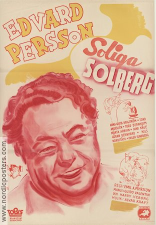 Soliga Solberg 1941 poster Edvard Persson