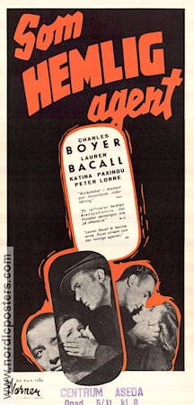 Confidential Agent 1945 Movie poster Charles Boyer