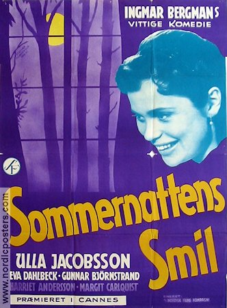 Smiles of a Summer Night 1956 poster Gunnar Björnstrand Ingmar Bergman