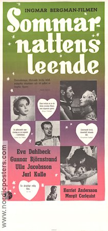 Smiles of a Summer Night 1956 Movie poster Gunnar Björnstrand Ingmar Bergman