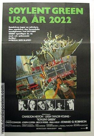 Soylent green poster 1973 charlton heston original for Soylent europe