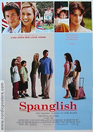 Spanglish 2005 Movie poster Adam Sandler