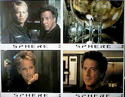 Sphere 1995 lobby card set Sharon Stone