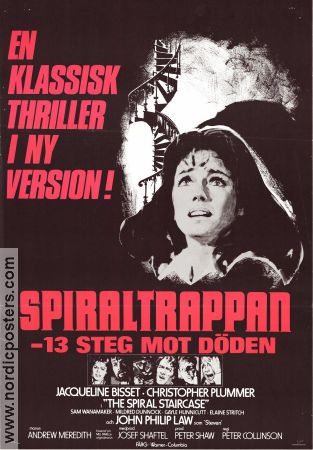 The Spiral Staircase 1975 poster Jacqueline Bisset Peter Collinson