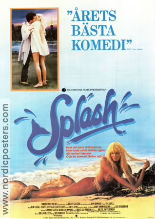 Splash 1984 poster Tom Hanks Ron Howard