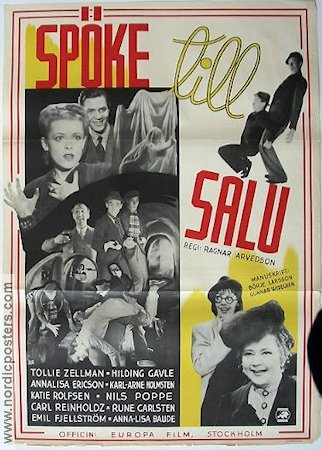 Sp�ke till salu 1939 Movie poster Nils Poppe