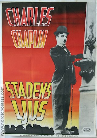 City Lights 1931 Movie poster Virginia Cherrill Charlie Chaplin