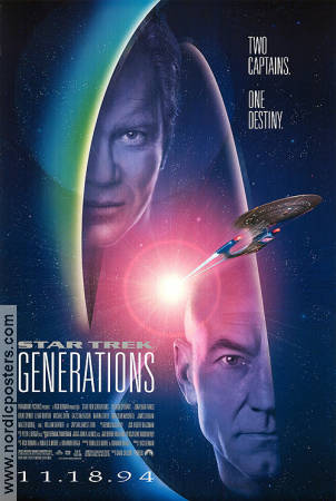 Star Trek Generations 1994 Movie poster Patrick Stewart