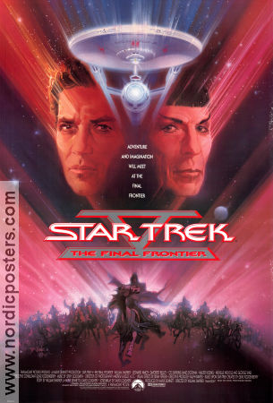 Star Trek the Final Frontier 1989 William Shatner Leonard Nimoy Star Trek