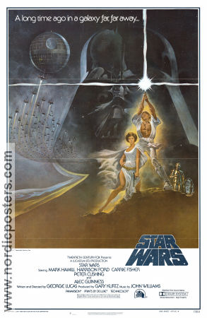 Star Wars Style A 1977 poster Mark Hamill George Lucas