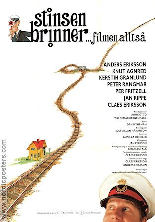 Stinsen brinner 1991 Movie poster Galenskaparna