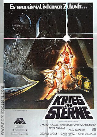 Krieg der Sterne 1977 George Lucas Mark Hamill Harrison Ford Carrie Fisher Alec Guinness Star Wars