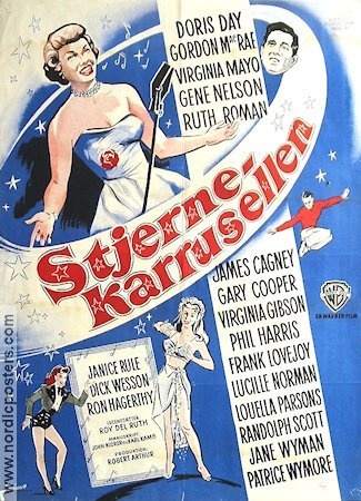Stjernekarrusellen 1953 Movie poster Doris Day