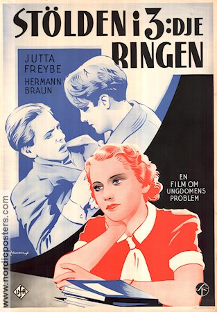 Was tun Sybille? 1938 Movie poster Jutta Freybe