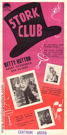 The Stork Club 1945 poster Berry Hutton