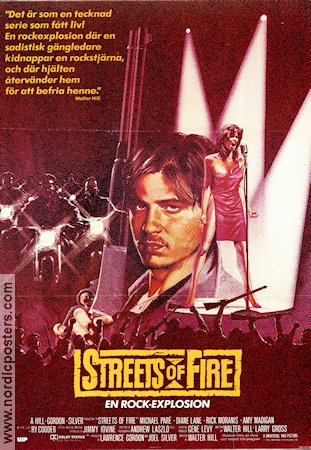 Streets of Fire 1984 Michael Par� Rick Moranis Willem Dafoe