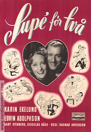 Sup� f�r tv� 1947 Movie poster Karin Ekelund