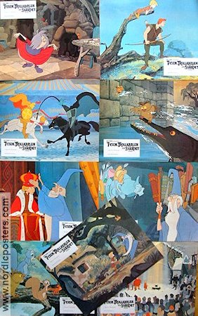 The Sword in the Stone 1963 lobby card set Wolfgang Reitherman