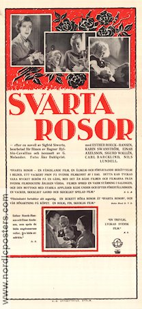 Svarta rosor 1932 Movie poster Esther Roeck Hansen