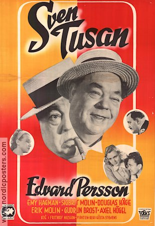 Sven Tusan 1949 Movie poster Edvard Persson