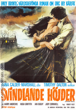 Wuthering Heights 1972 poster Timothy Dalton
