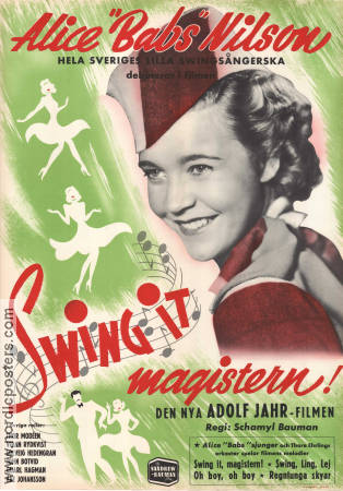 Swing it magistern 1940 Schamyl Bauman Alice Babs Alice Babs Nilson Adolf Jahr Thor Mod�en Sandrews