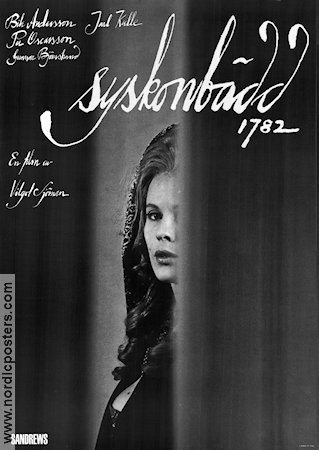 Syskonb�dd 1782 1966 Movie poster Bibi Andersson Vilgot Sj�man
