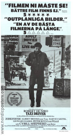 Taxi Driver 1976 Movie poster Robert De Niro Martin Scorsese