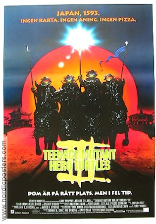 Teenage Mutant Hero Turtles 3 1993 Movie poster Elias Koteas