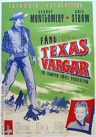 The Texas Rangers 1952 poster George Montgomery