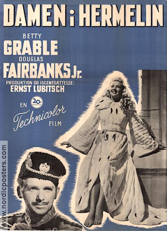 That Lady in Ermine 1948 poster Betty Grable Ernst Lubitsch