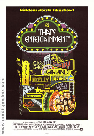 That's Entertainment 1974 Movie poster Fred Astaire