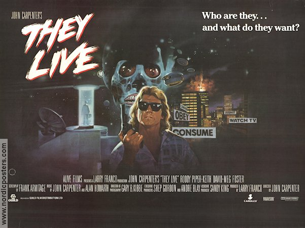 They Live 1988 Poster They Live poster Engla...