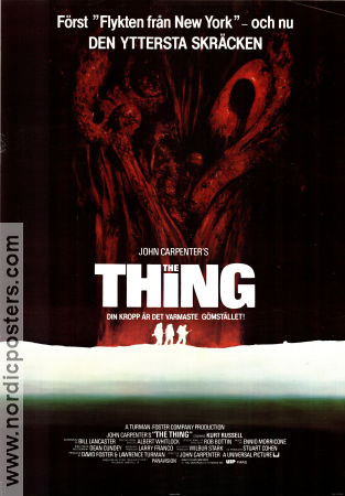 The Thing 1982 poster Kurt Russell John Carpenter